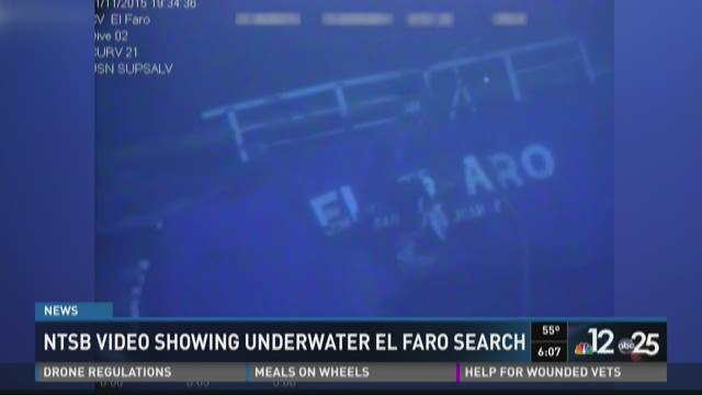 NTSB releases video of El Faro search