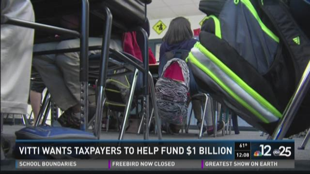Vitti wants taxpayers to help fund $1 billion
