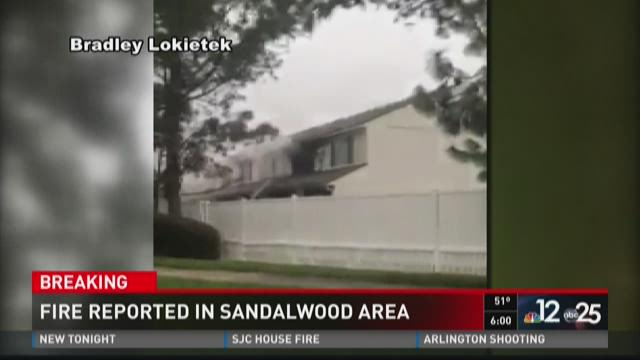 Fire reported in Sandalwood area