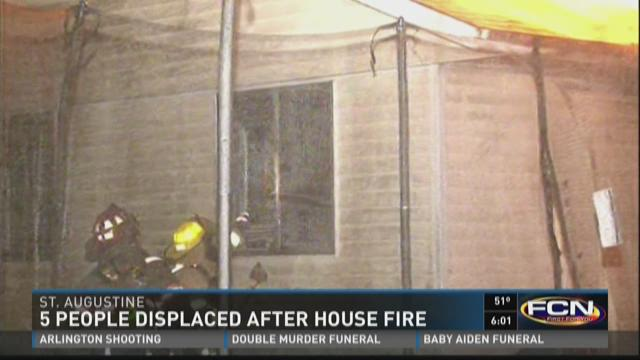 5 people displaced after house fire