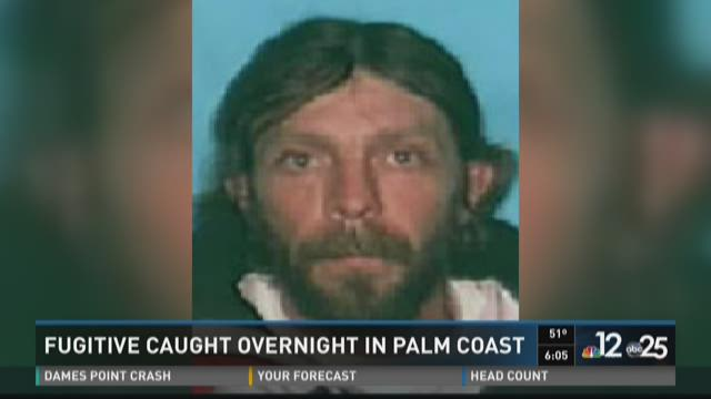 Fugitive caught overnight in Palm Coast