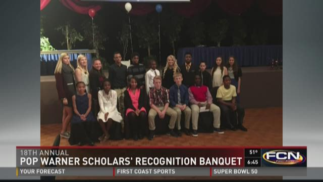 Athletes recognized at 18th Annual Greater Jacksonville Pop Warner Scholar Banquet