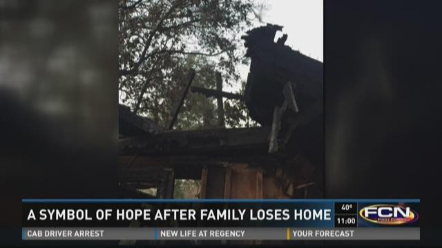 Symbol of hope after family loses home