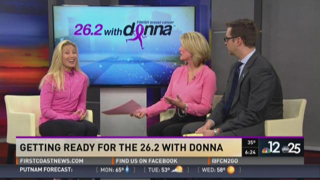 Getting ready for the 26.2 with Donna