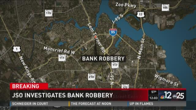 JSO investigating bank robbery in North Jacksonville