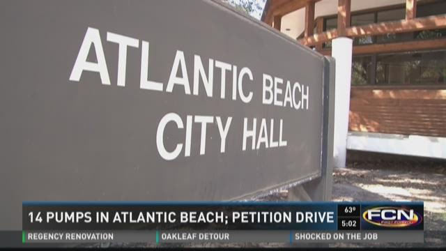 14 pumps in Atlantic Beach; Petition drive