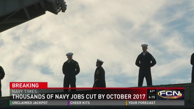 Thousands of Navy jobs cut by October 2017