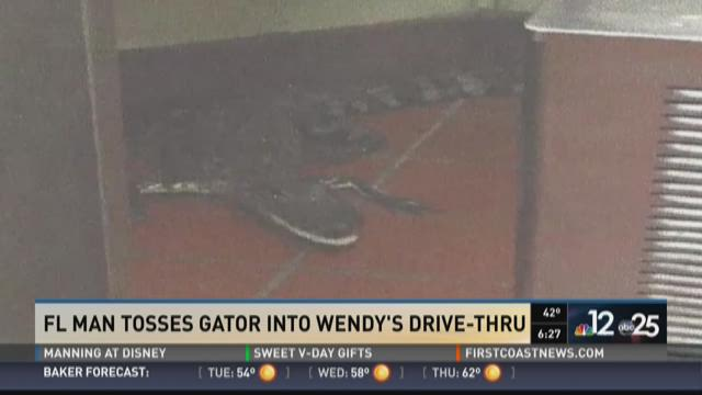 Florida man accused of tossing gator into Wendy's drive-thru window