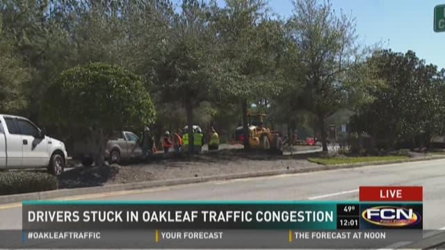 Drivers stuck in Oakleaf traffic congestion