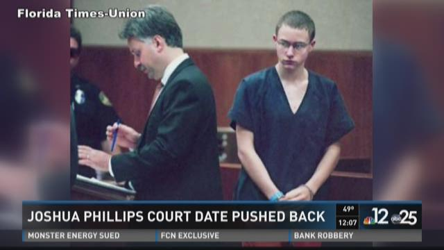 Joshua Phillips court date pushed back