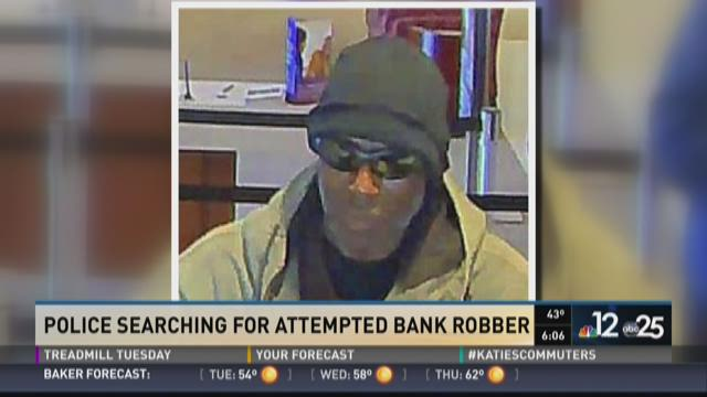 Police searching for attempted bank robber