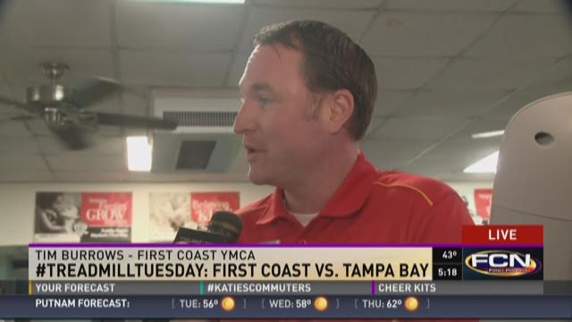 Tim Burrows with the First Coast YMCA on Treadmill Tuesday