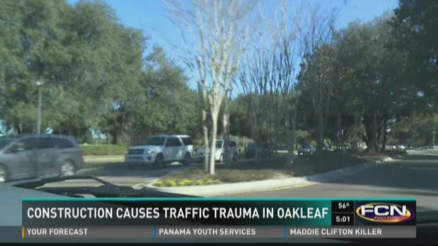 Construction causes traffic trauma in Oakleaf