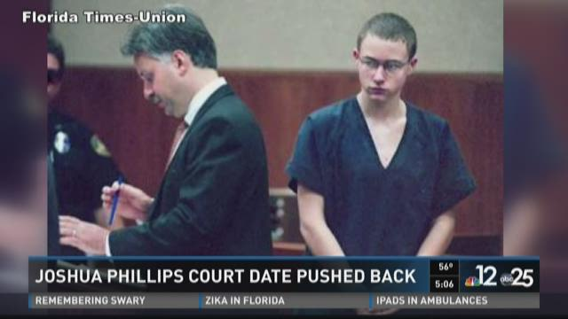 Joshua Phillips court date pushed back