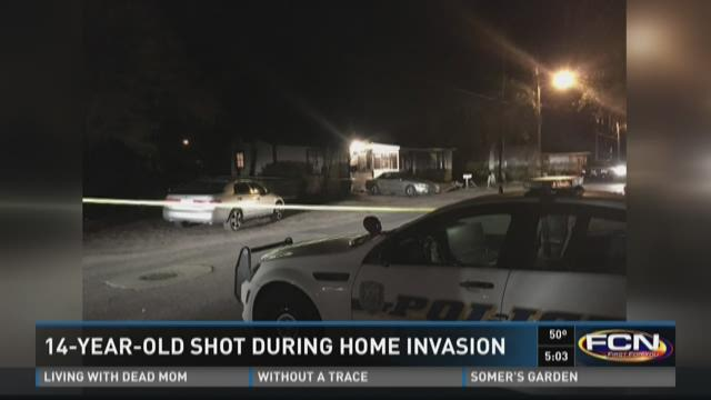14-year-old shot during home invasion