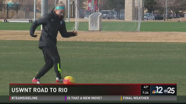 U.S. Women's National Soccer Team on Road to Rio