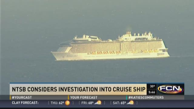 NTSB considers investigation into cruise ship