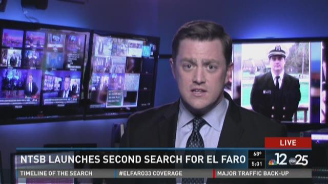 NTSB launches second search for El Faro
