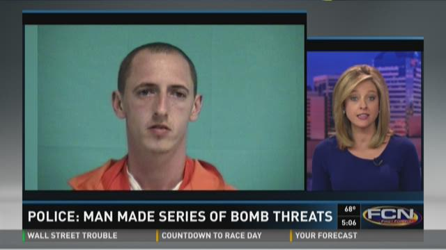 Police: Man made series of bomb threats