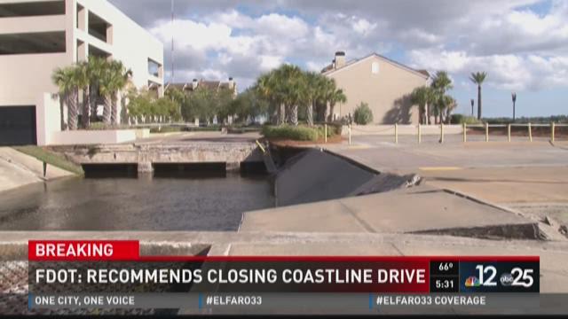 FDOT recommends closing coastline drive