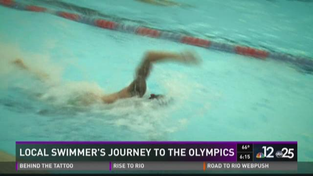 Local swimmer's journey to the Olympics