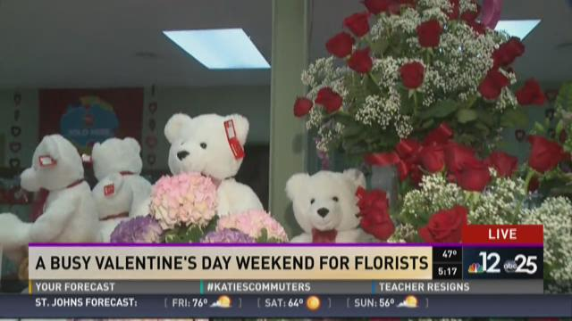 Busy Valentine's Day weekend for florists