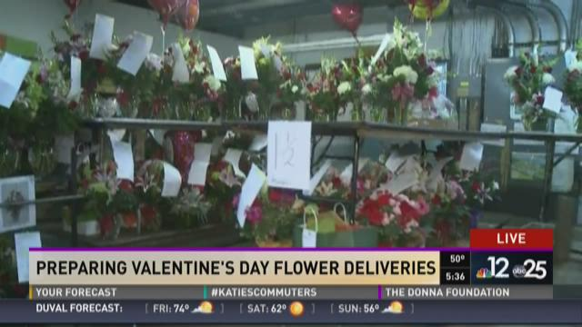 Preparing for Valentine's Day flower deliveries