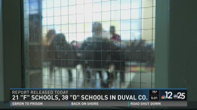 21 'F' schools, 38 'D' schools in Duval Co.