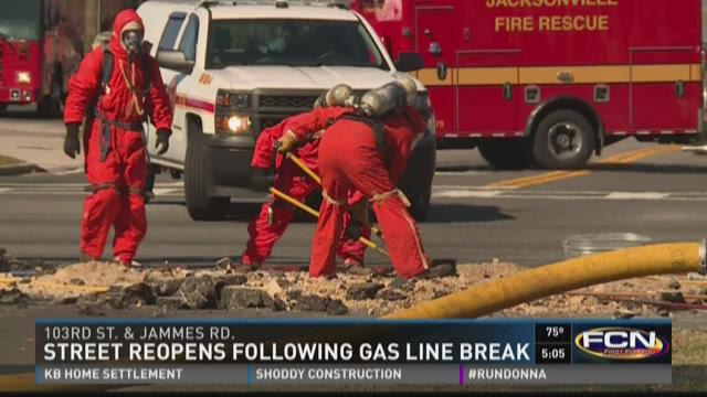 Street reopens following gas line break
