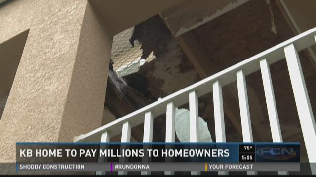 KB Home to pay millions to homeowners