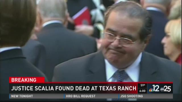 Justice Scalia found dead at Texas ranch