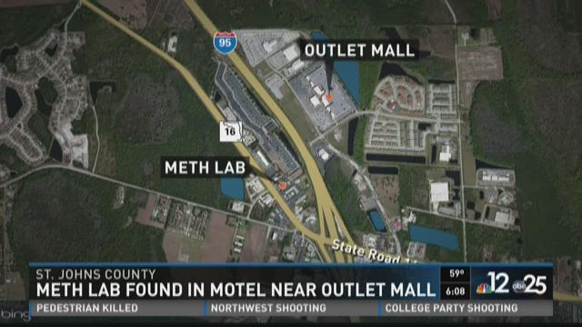 Meth lab found in motel near outlet malls