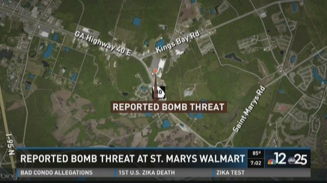 Reported bomb threat at St. Marys Walmart