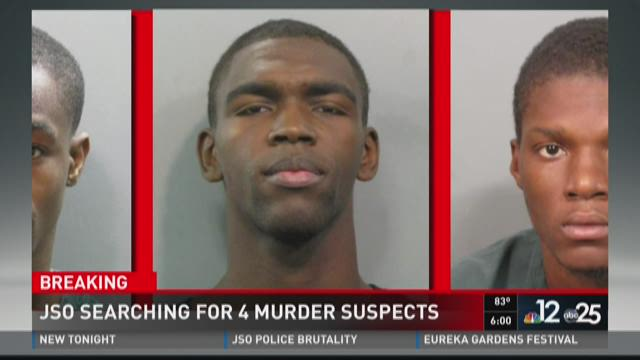 JSO searching for 4 murder suspects