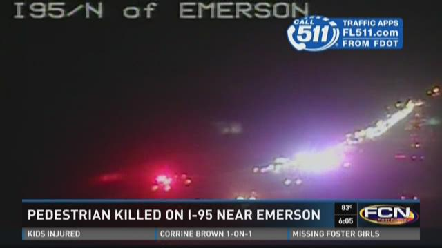 Pedestriankilled on I-95 near Emerson