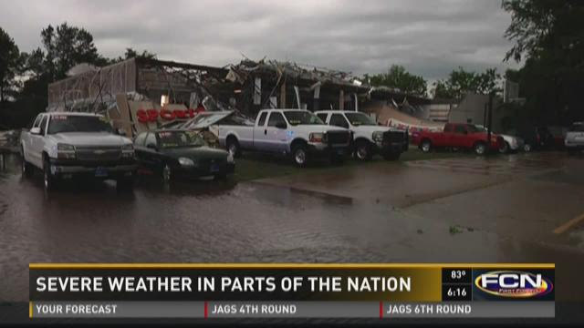 Severe weather in parts of the nation.