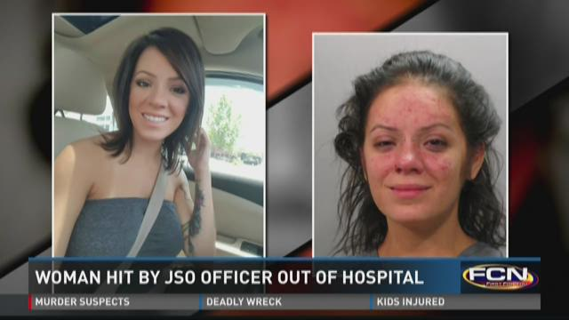 Woman hit by JSO officer out of hospital