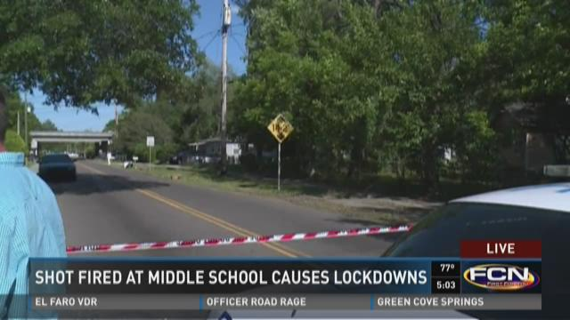 Shot fired at middle school causes lockdowns