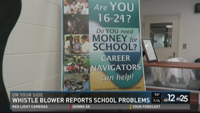 Whistle blower reports school problems