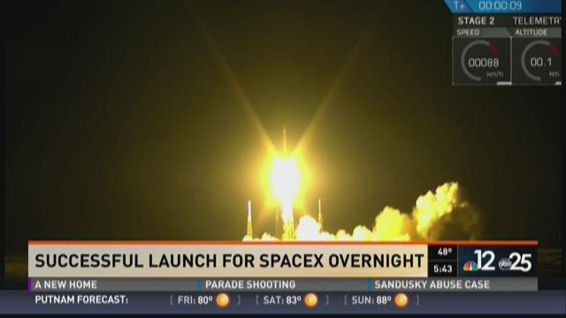 Successful launch for SpaceX overnight