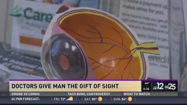 Doctors give man the gift of sight