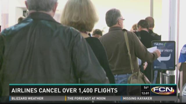 More than a dozen flights cancelled at Jacksonville