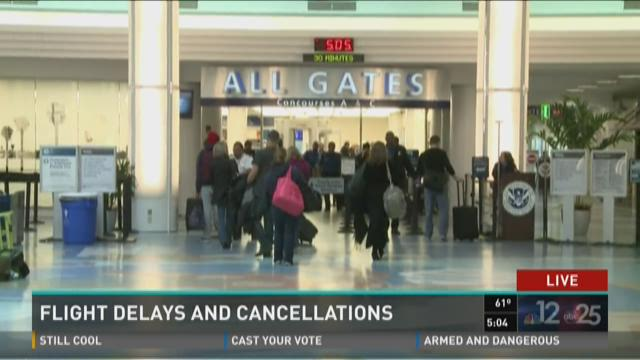 Winter storm triggers flight delays and cancellations at JIA