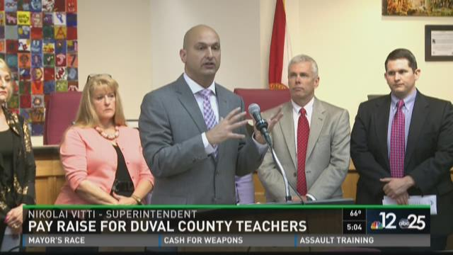 Duval County School Board voting on teacher salary.