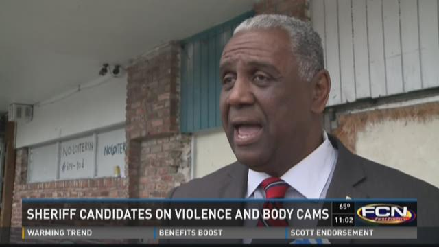 Jacksonville Sheriff's candidates Mike Williams and Ken Jefferson talk about the possible use of body cameras.