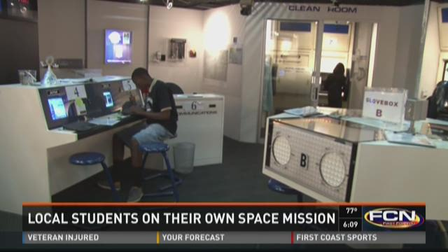 Local students on their own space mission