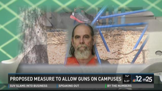 A bill to allow guns on school campuses has stalled