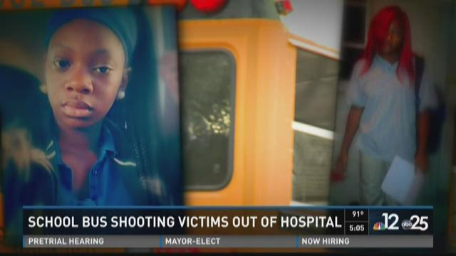 Bus shooting victims, Shakayla Singleton (r) and Ayana