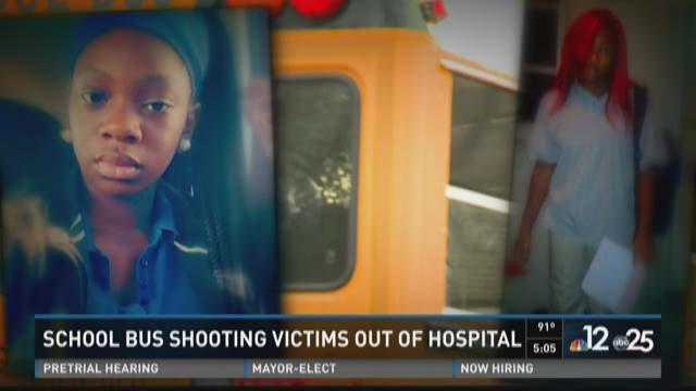 Bus shooting victims, Shakayla Singleton (r) and Ayana