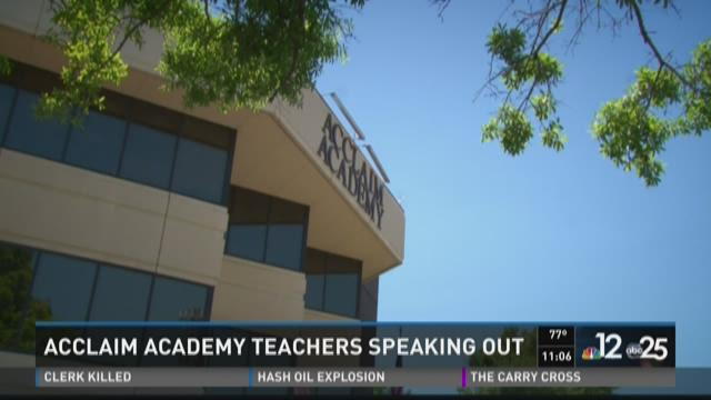 Acclaim Academy teachers speaking out